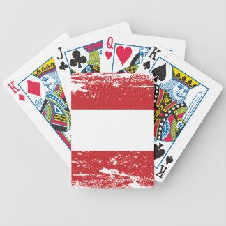 Schmutz-Österreich-Flagge Bicycle Spielkarten