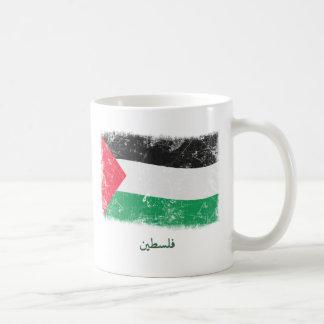 Schmutz-Palästina-Flagge Kaffeetasse