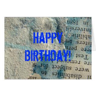 Schmutz-Papier, alles Gute zum Geburtstag! Karte