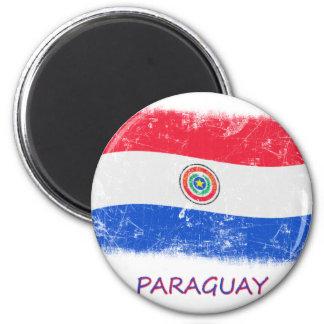 Schmutz-Paraguay-Flagge Runder Magnet 5,1 Cm