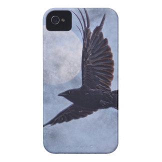 Schmutz-Rabe u. Mond-lt Blue Art Design iPhone 4 Hülle