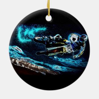 Schmutz radfahrender Motocross, der Keramik Ornament