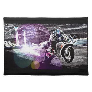 Schmutz radfahrender Motocross, der Tischset
