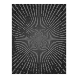 Schmutz-Radialmuster: Kundenspezifische Schablone 21,6 X 27,9 Cm Flyer