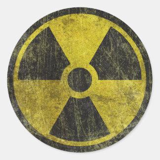 Schmutz-radioaktives Symbol Runder Sticker