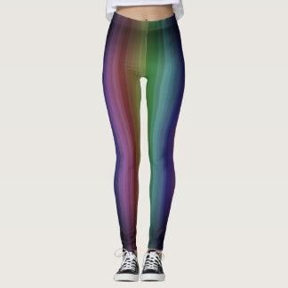 Schmutz-Regenbogen-Punkrock-Streifen-Linie Muster Leggings