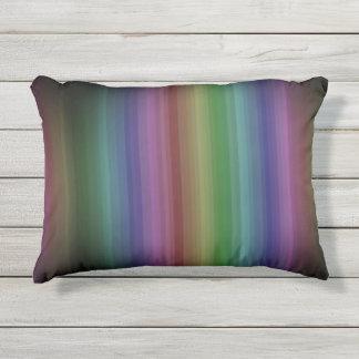 Schmutz-Regenbogen-Rock-Streifen-Linie Muster Kissen Für Draußen