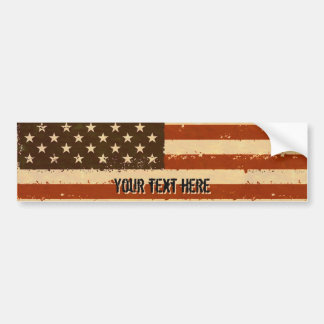 Schmutz-Retro amerikanische Flagge Autoaufkleber