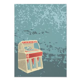 Schmutz-Retro Musikautomat 12,7 X 17,8 Cm Einladungskarte