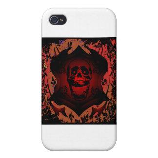 Schmutz-Schädel-u Hintergrund-Tätowierung iPhone 4/4S Hüllen