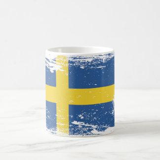 Schmutz-Schweden-Flagge Teetassen