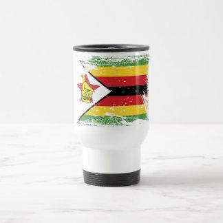 Schmutz-Simbabwe-Flagge Reisebecher