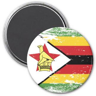 Schmutz-Simbabwe-Flagge Runder Magnet 7,6 Cm