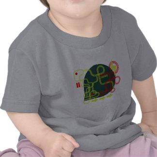 Schmutz spürt Babyt-stück auf T-Shirts