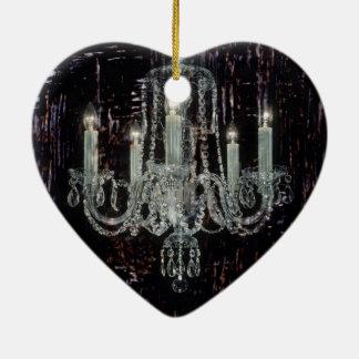 Schmutz Steampunk gotische rustikale Leuchterkunst Keramik Herz-Ornament