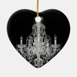 Schmutz Steampunk gotischer rustikaler Leuchter Keramik Herz-Ornament