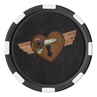 Schmutz Steampunk Herz Poker Chip Set