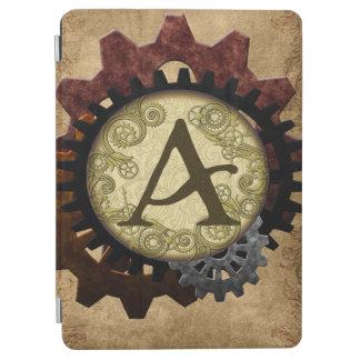 Schmutz Steampunk übersetzt Monogramm-Buchstaben A iPad Air Cover
