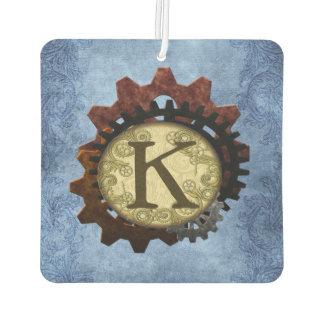 Schmutz Steampunk übersetzt Monogramm-Buchstaben K Autolufterfrischer