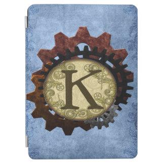 Schmutz Steampunk übersetzt Monogramm-Buchstaben K iPad Air Cover