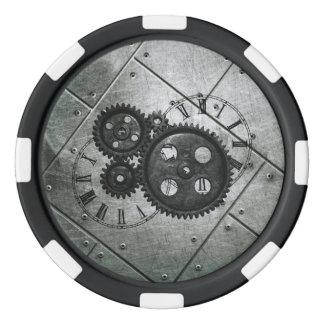Schmutz Steampunk Uhren und Gänge Poker Chips