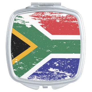 Schmutz-Südafrika-Flagge Taschenspiegel