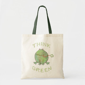 Schmutz-Tag der Erde-Klimafrosch Budget Stoffbeutel