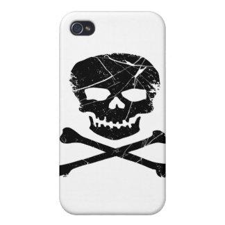 Schmutz-Tätowierungs-Schädel-und Kreuz-Knochen iPhone 4 Hüllen