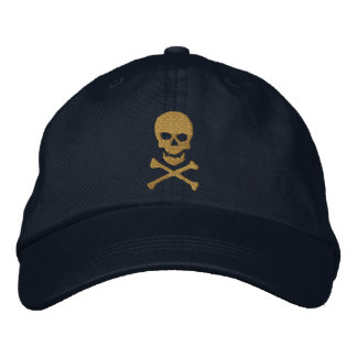 Schmutz-Totenkopf mit gekreuzter Knochen gestickte Bestickte Caps