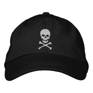 Schmutz-Totenkopf mit gekreuzter Knochen gestickte Besticktes Cap