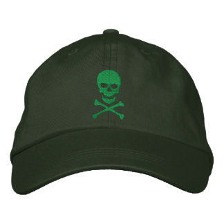 Schmutz-Totenkopf mit gekreuzter Knochen gestickte Bestickte Mütze