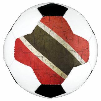 Schmutz-Trinidad und Tobago-Flagge Fußball