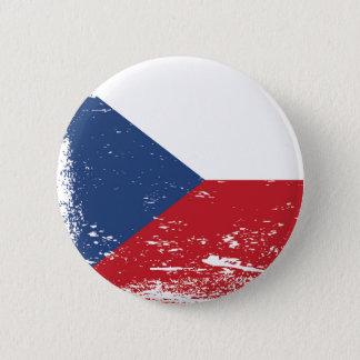 Schmutz-Tschechische Republik-Flagge Runder Button 5,7 Cm
