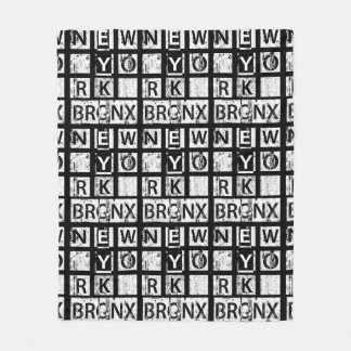 Schmutz-Typografie Bronx New York | Fleecedecke