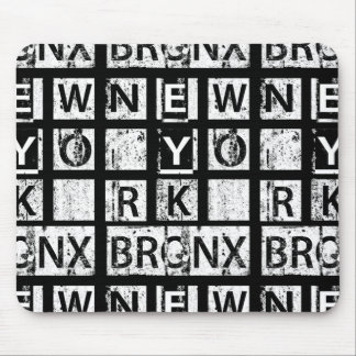 Schmutz-Typografie Bronx New York | Mousepad