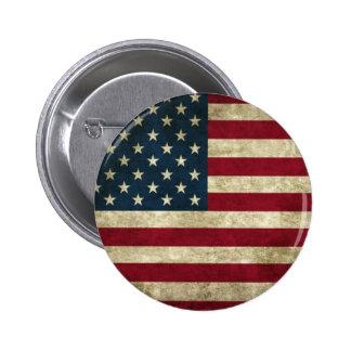 Schmutz USA-Flagge Runder Button 5,7 Cm
