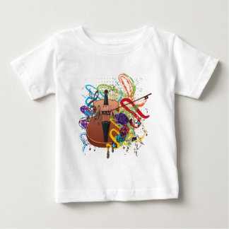 Schmutz-Violinen-Illustration Baby T-shirt
