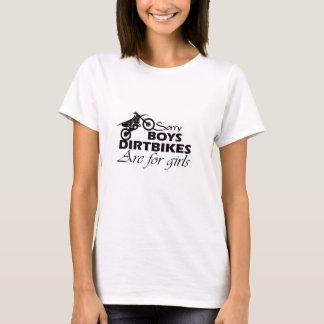 Schmutzfahrräder des Jungen sind für Mädchen T-Shirt