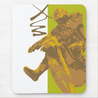 Schmutzfahrradschlamm-vektorillustration Mousepad