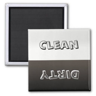 Schmutzig säubern Sie kundengebundenen Quadratischer Magnet