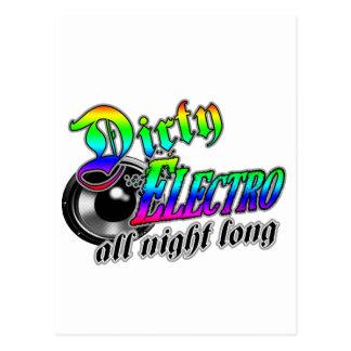 SCHMUTZIGE ELECTRO die ganze Nacht lang DJ Postkarte