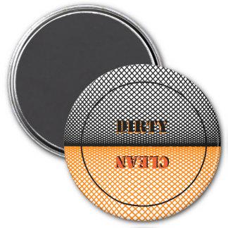 Schmutzige oder saubere Spülmaschine Runder Magnet 7,6 Cm