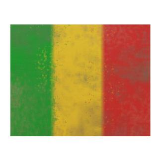 Schmutzige Rasta Flagge Holzleinwände