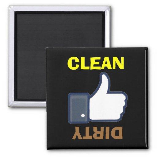 Schmutzige saubere Daumen-Auf-/Ab-Spülmaschinen-Ma Kühlschrankmagnet