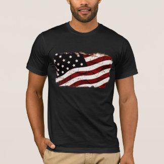 Schmutzige Vintage USA-Flagge T-Shirt