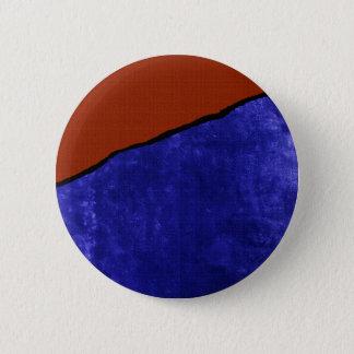 Schmutziger blauer und orange Riss Runder Button 5,1 Cm
