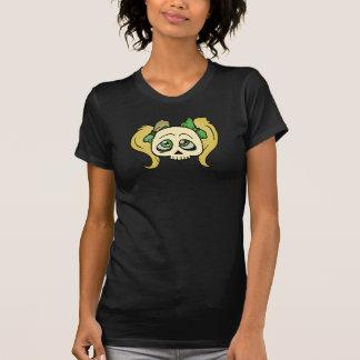 Schmutziger blonder Mädchen-Schädel T-Shirt