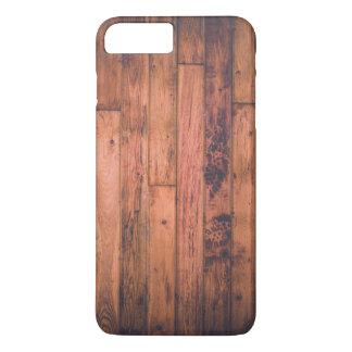 Schmutziger Grungy hölzerner Boden mit Bootprints iPhone 8 Plus/7 Plus Hülle