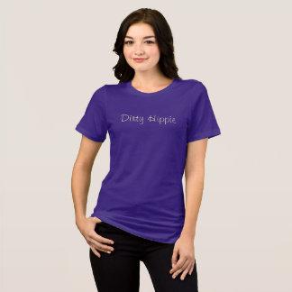 Schmutziger Hippie-Damen-Creme-Druck T-Shirt