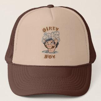 Schmutziger Jungen-Hut Truckerkappe